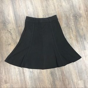 Black Suede Like Skirt